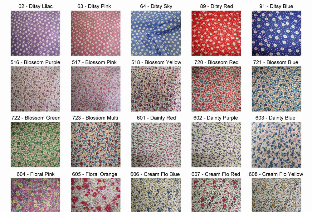 Small Floral Polycotton Prints - Epra Fabrics Ltd