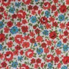 Red Blossom Floral Polycotton Prints - Epra F
