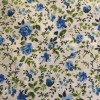 Cream Yellow Floral Polycotton Prints - Epra