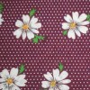 Purple Large Daisy Floral Polycotton Print