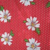 Red Floral Polycotton Prints - Epra Fabrics L