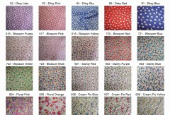 Small Floral Polycotton Prints - Epra Fabrics