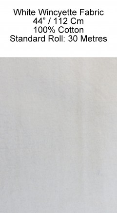 White Wincyette Fabric